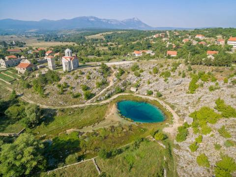 Source of the Cetina river in the heart of Croatia.